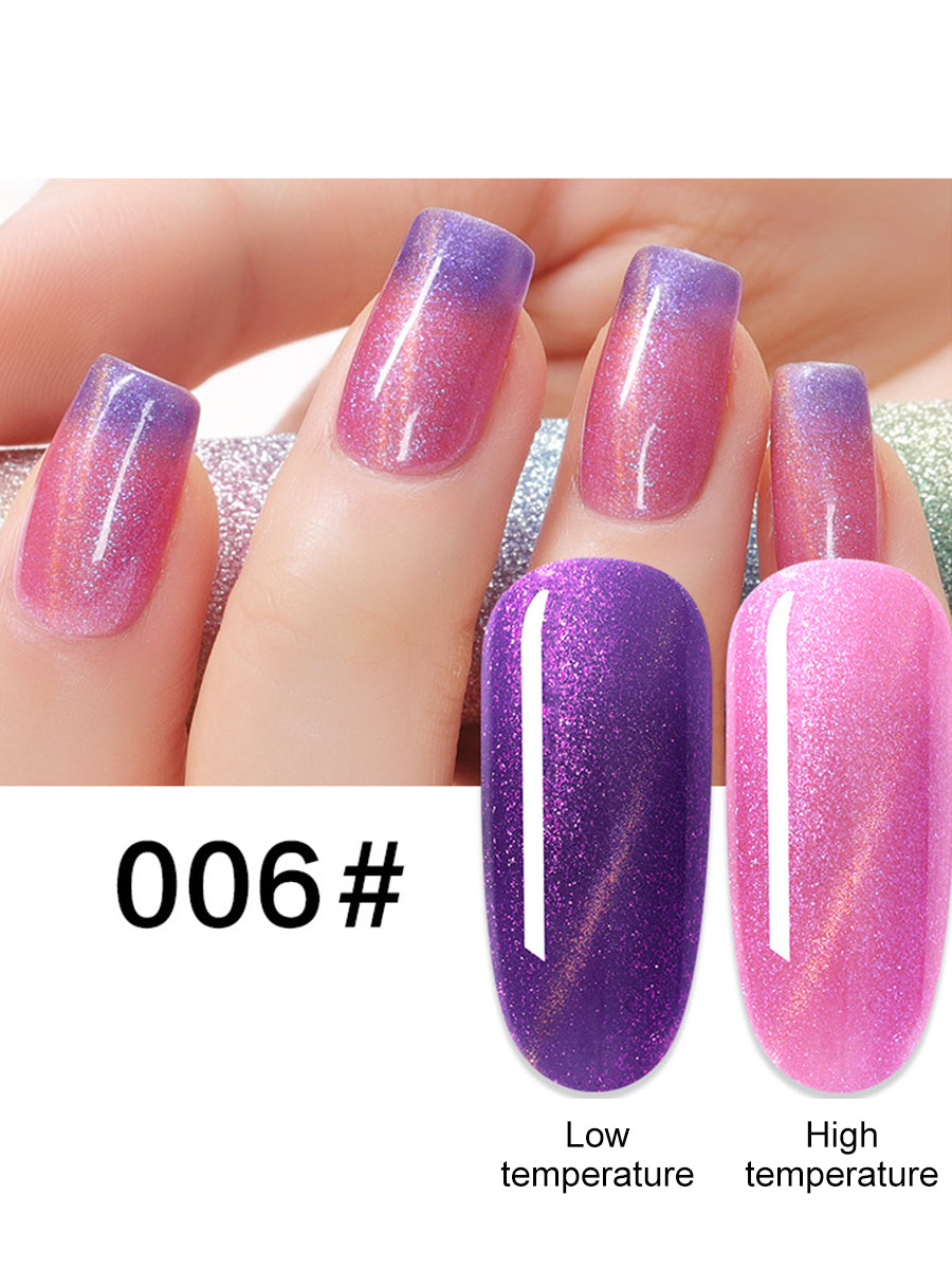 thermal colour cat eye effect nail polish