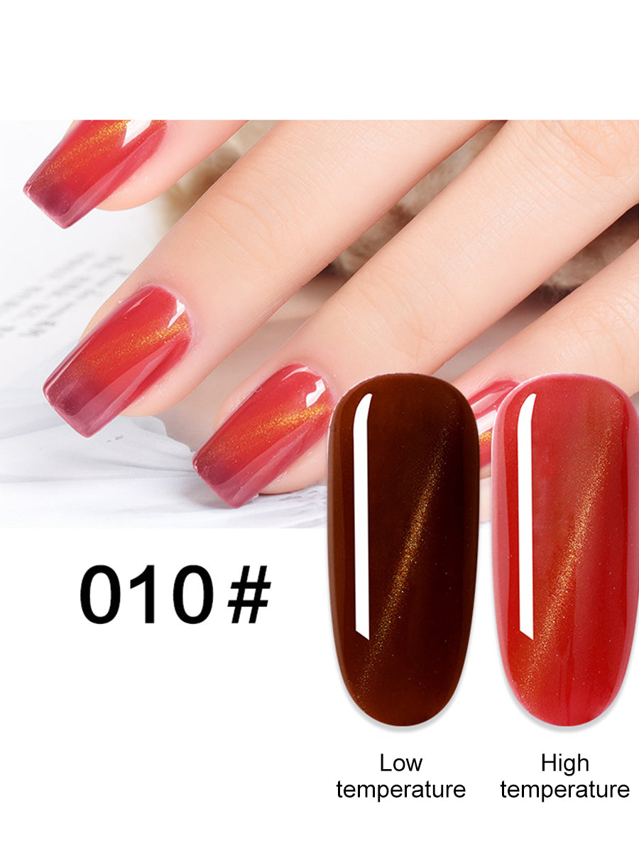 thermal colour cat eye nail polish