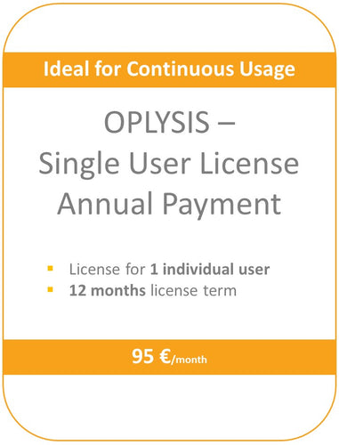 OPLYSIS - Recurring single user license, billing every 12 months, 1 user