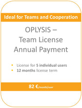 Load image into Gallery viewer, OPLYSIS - Recurring team license, billing every 12 months, 5 users