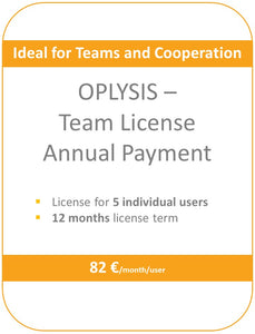 OPLYSIS - Recurring team license, billing every 12 months, 5 users