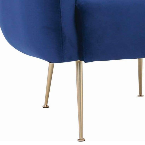 Alero Armchair with Gold-Plated Leg, Midnight Blue - Home And Style