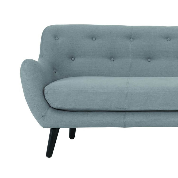 Alfa 3 Seater Grey Fabric Sofa - Home And Style
