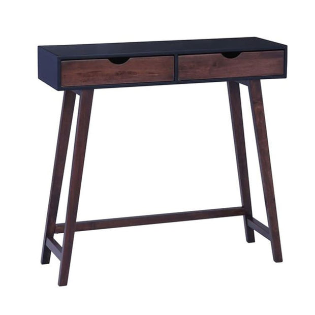 Arsenio Console Table In Black Colour Top And Cocoa Colour Drawer - Home And Style
