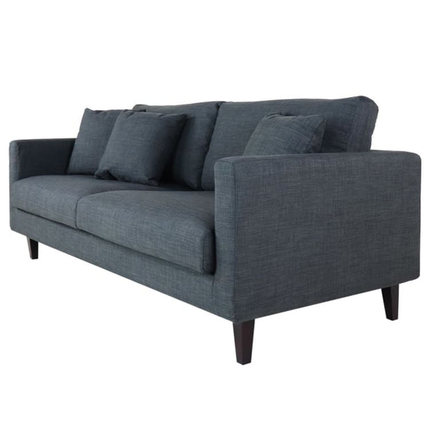 Avanti 3 Seater Fabric Sofa Dark Grey