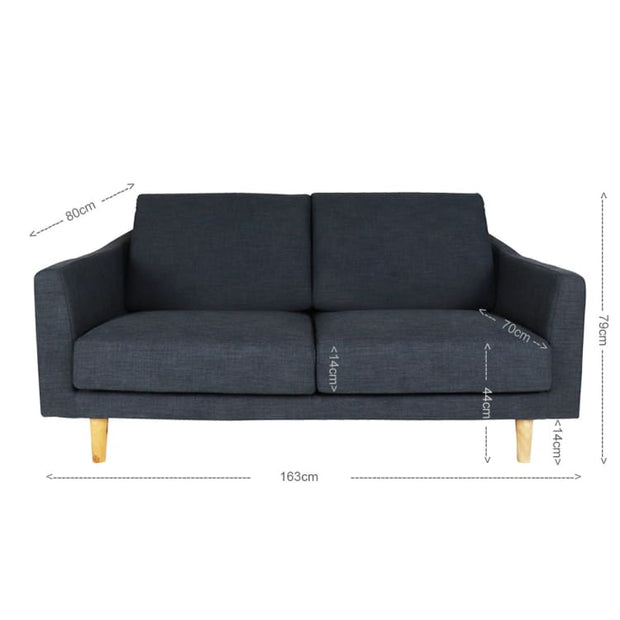Avro 2.5 Seater Sofa, Grey (Open Box) - Home And Style
