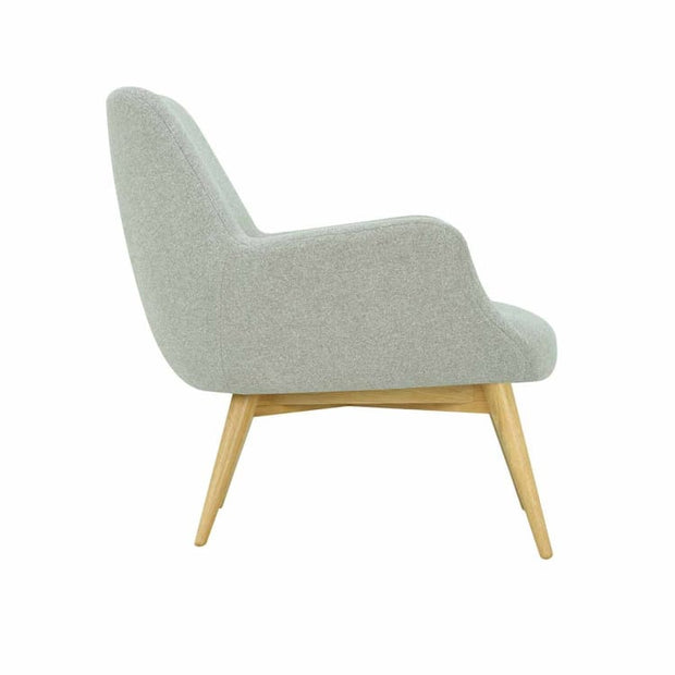 Berlingo Lounge Chair with Oak Leg, Dolphin - Home And Style