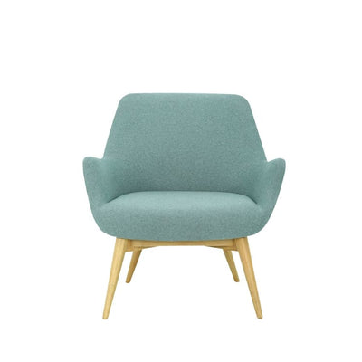 Berlingo Lounge Chair with Oak Leg, Marble Blue - Home And Style