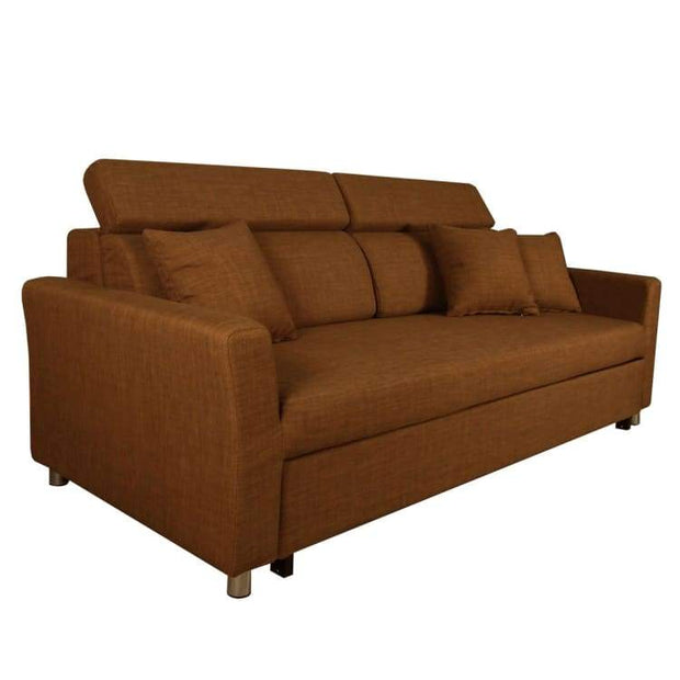 Bowen Sofa Bed, Brown - Home And Style