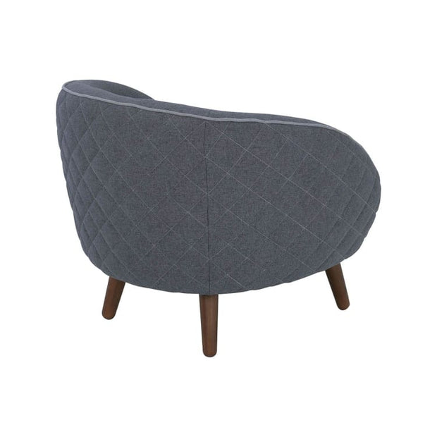 Brat Lounge Chair, BattleShip Grey - Home And Style