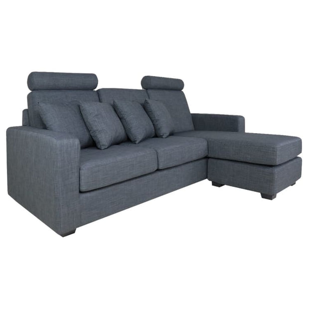 Carine 3 Seater L Shape LEFT Side when Seated - Grey - Home And Style