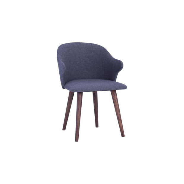 Ceyla Dining Chair With Cocoa Colour Leg, Battleship Grey - Home And Style