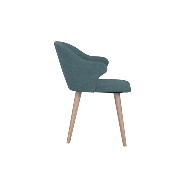 Ceyla Dining Chair With Oak Leg, Marble Blue - Home And Style