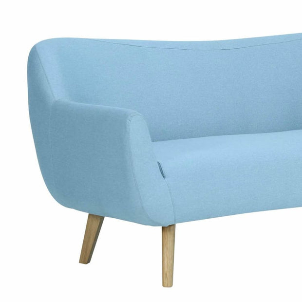 Clarus 3 Seater Sofa with Oak Leg, Aquamarine - Home And Style