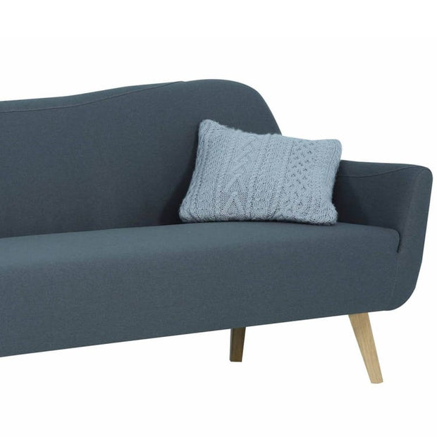 Clarus 3 Seater Sofa with Oak Leg, Grey - Home And Style