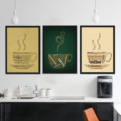 Coffee, Framed Print Art (3 Pieces) - Home And Style