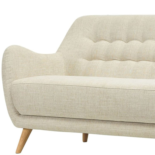 Cooper 2 Seater Fabric Sofa in Almond Colour - Home And Style