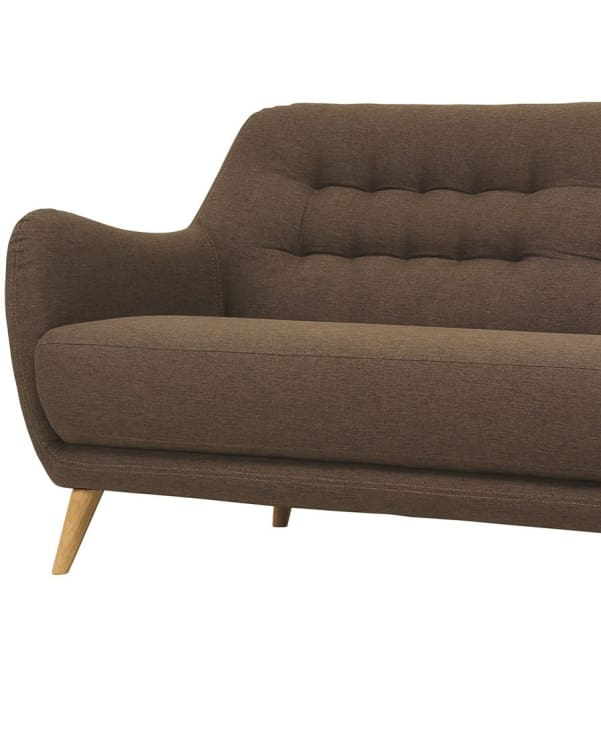 Cooper 2 Seater Fabric Sofa in Chesnut Colour - Home And Style