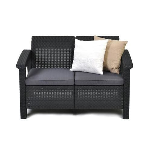 Corfu 2 Seater Sofa Grey Colour by Keter - Home And Style