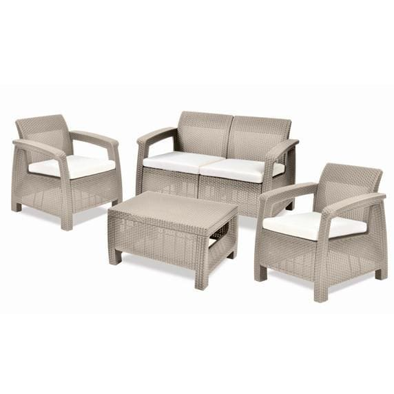 Corfu 2 Seater Sofa Sand Colour by Keter - Home And Style
