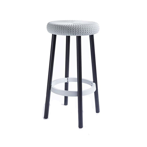 Cozy Bar Stool Elegant Grey by Keter - Home And Style