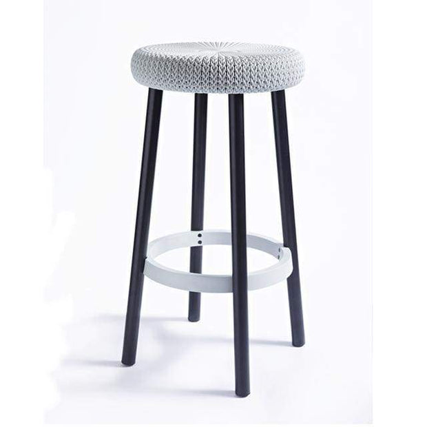 Cozy Bar Stool White by Keter - Home And Style