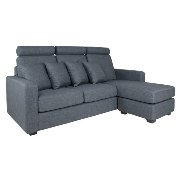 Darah L Shape LEFT Side when Seated - Grey - Home And Style
