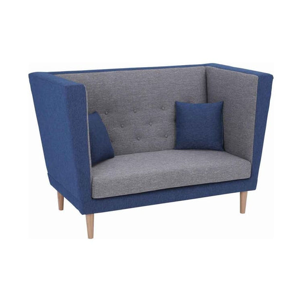 Dasher 2 Seater Sofa with Oak Leg, Midnight Blue - Home And Style