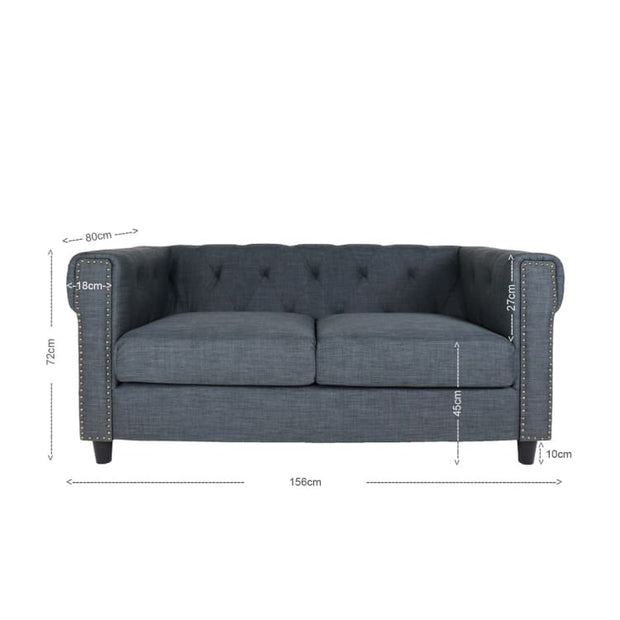 Eero 2 Seater Sofa, Grey - Home And Style