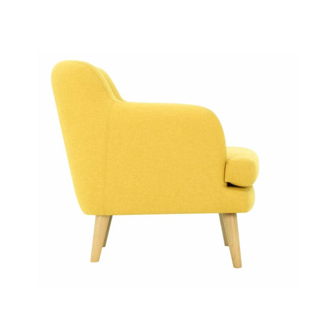 Exelero Armchair with Oak Leg, Yellow - Home And Style