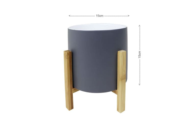 Faye Flowerpot with Bamboo Leg - Home And Style