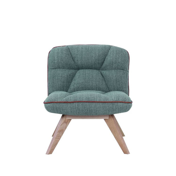 Feiro Fabric Armchair in Dim Grey Colour - Home And Style