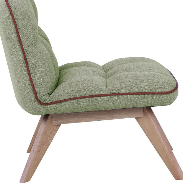 Feiro Fabric Armchair in Timberwolf Colour - Home And Style