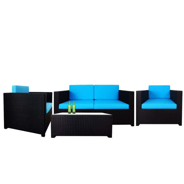 Fiesta Sofa Set II, Blue Cushions by Arena Living - Home And Style