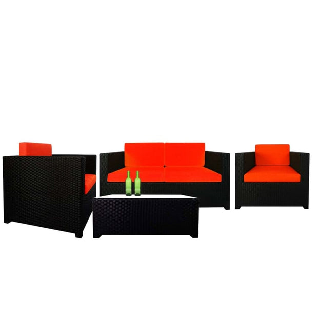 Fiesta Sofa Set II, Orange Cushions by Arena Living - Home And Style