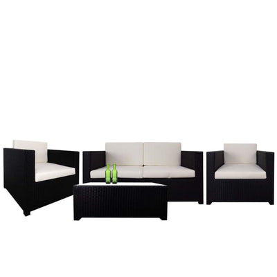 Fiesta Sofa Set II, White Cushions by Arena Living - Home And Style