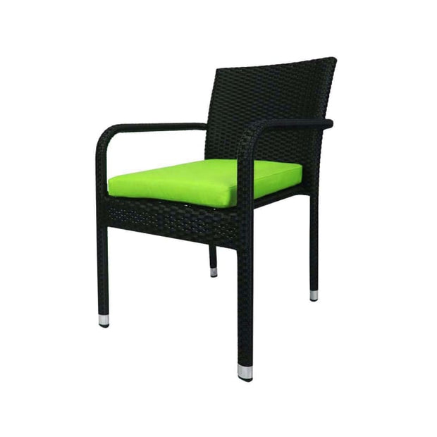 Geneva 8 Chair Dining Green Cushion - Home And Style