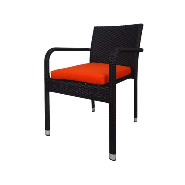 Geneva 8 Chair Dining Orange Cushion - Home And Style