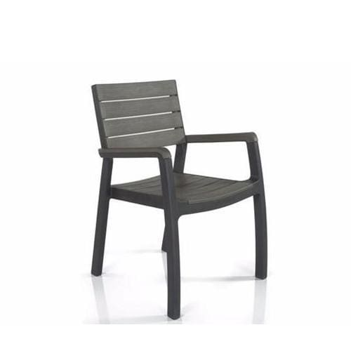 Harmony Dining Armchair Grey by Keter - Home And Style
