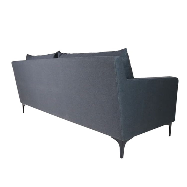 Hayley 3 Seater Sofa, Dark Grey - Home And Style