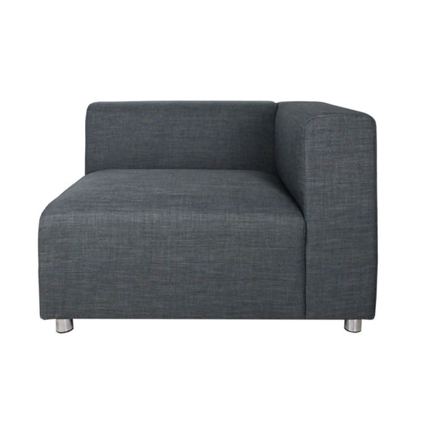 Houston 2 Seater Sofa Grey (2 Piece) - Home And Style