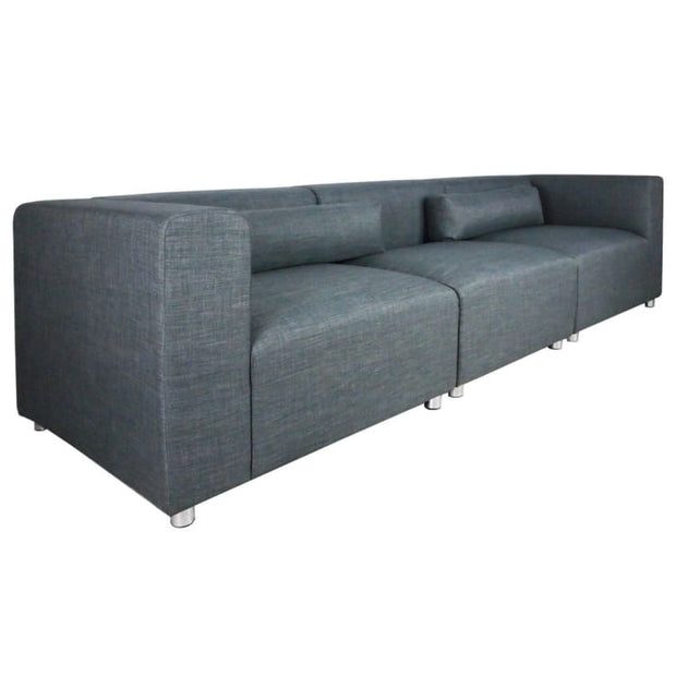 Houston 3 Seater Sofa Grey (3 Piece) - Home And Style
