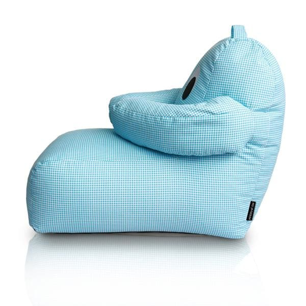 Hugbear Bean Bag Chequered Blue - Home And Style