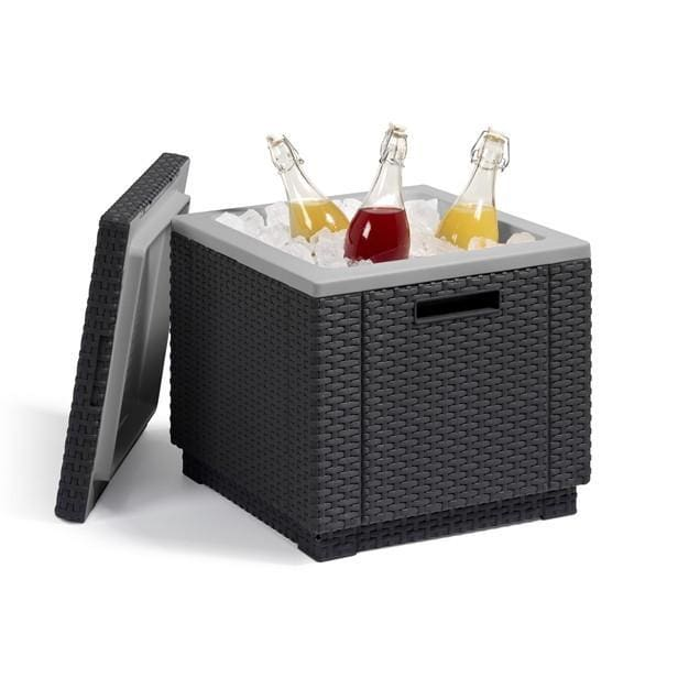 Ice Cube Table Graphite by Allibert - Home And Style