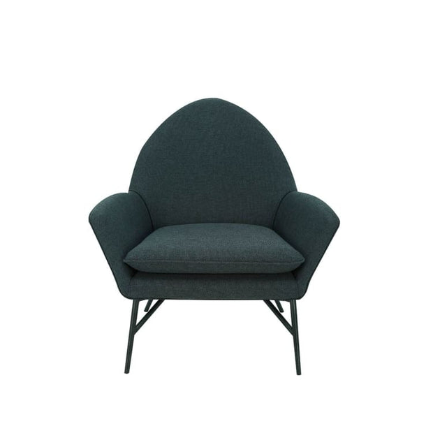 Lavinda Lounge Chair with Matt Black Epoxy Leg, Lava - Home And Style