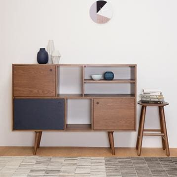 Locke Cocoa Tall Sideboard - Home And Style