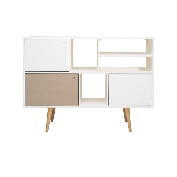 Locke White Lacquered Tall Sideboard - Home And Style