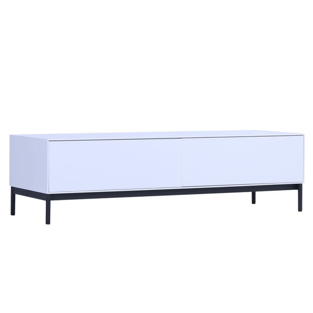 Lowell White TV Console 1.2m - Home And Style