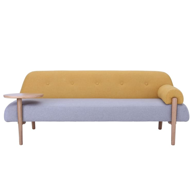 Lusso Daybed with Oak Leg, Yellow