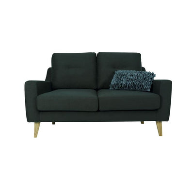 Malibu 2 Seater Sofa with Oak Leg, Dark Green - Home And Style